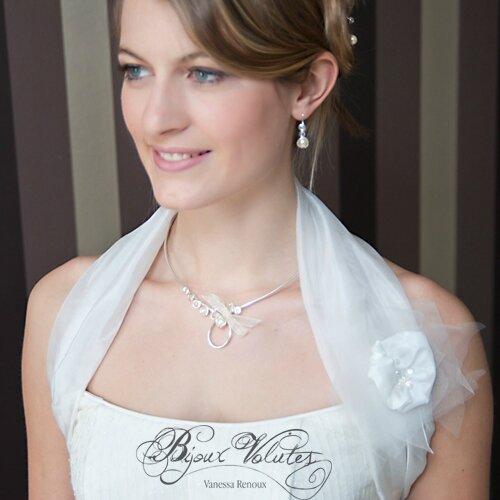 Collier mariage classique infini, perles de nacre