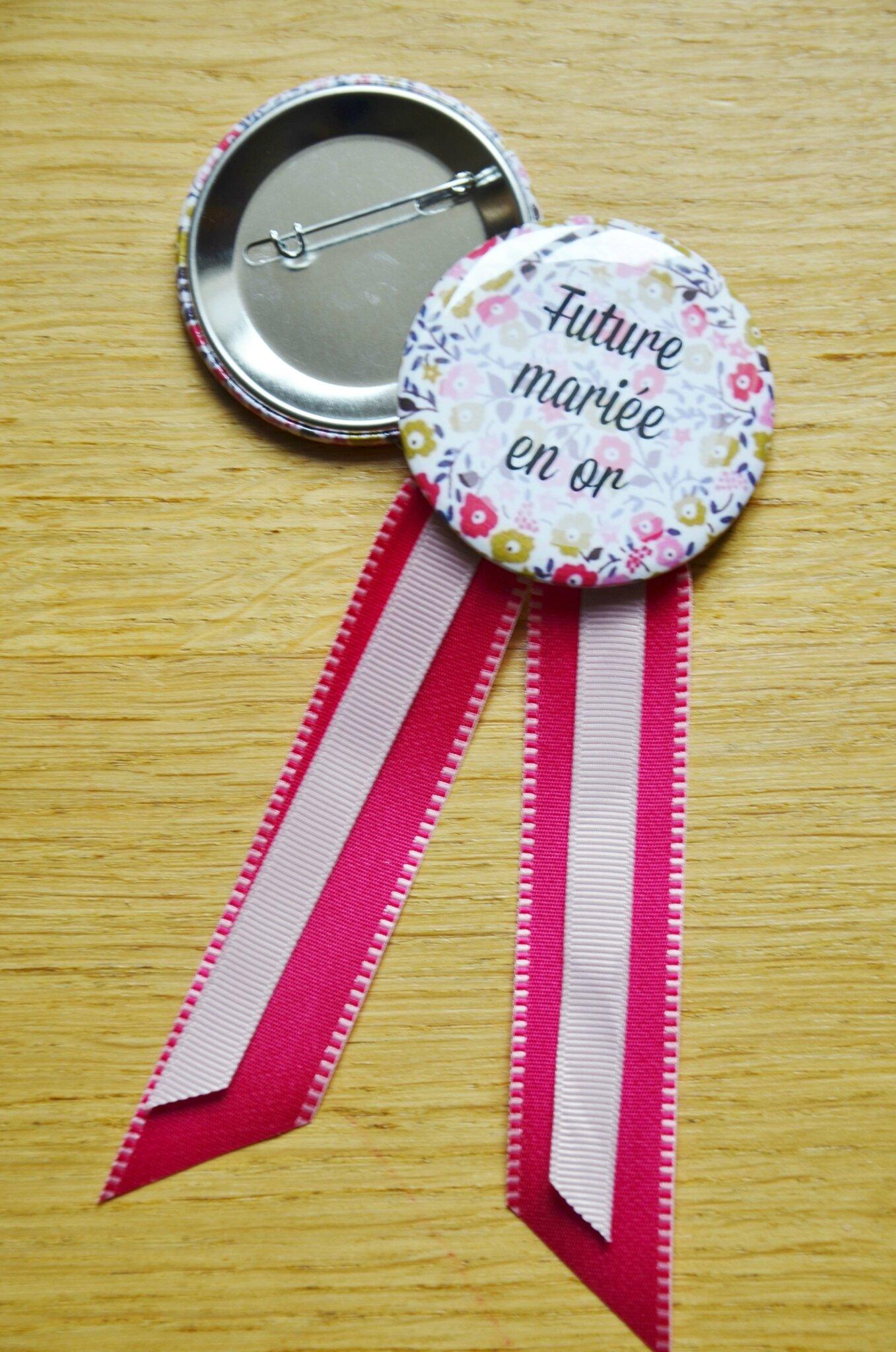 Badges et cocarde pour enterrement de vie de jeune vie (EVJF) // Liberty
