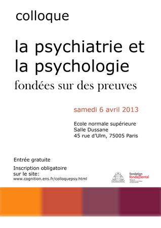 colloque psychiatrie fondé sur preuves