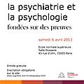 Colloque - la psychiatrie et la psychologie fondées sur les preuves