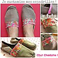 Tuto customisation espadrilles