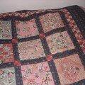 Dessus de lit rétro (en utilisant un vieux dessus de lit)