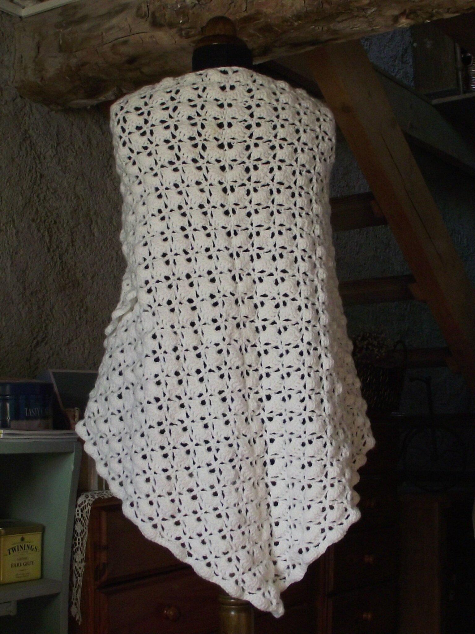 South Bay shawlette Laine Sport Aigrette 4