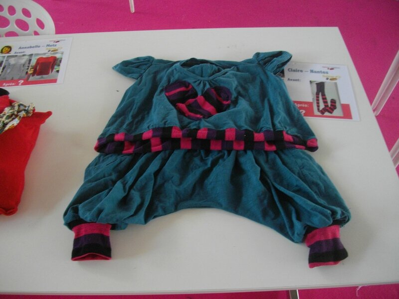 tenue enfant sarouel upcycling claire bobines d'or