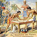Histoire de l'ecriture (4) : le papyrus – le premier « papier» en provenance d'égypte