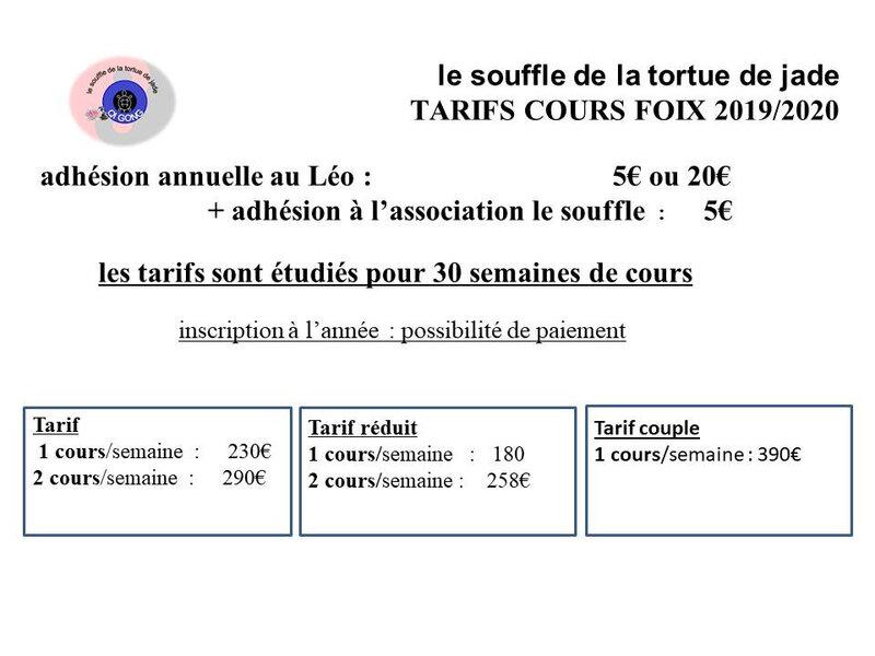 tarifs foix blog