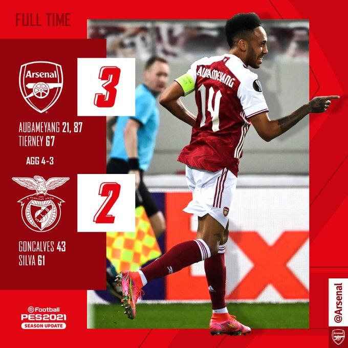 Arsenal ce qualifie pour 8es de finale de L'Europa League !