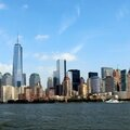 New-York (Panoramique, Manhattan vu de lamer, 1 photo)