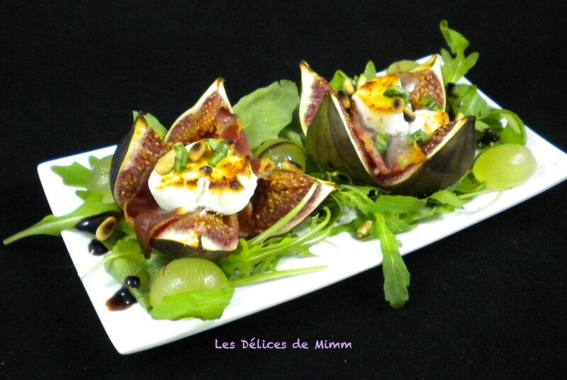 Figues fraîches farcies au chèvre et au jambon cru 2