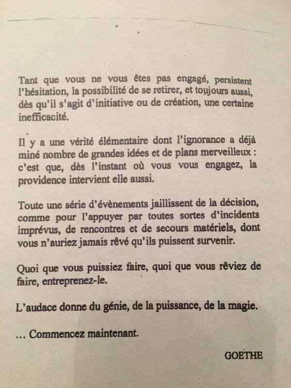 De l'audace Goethe