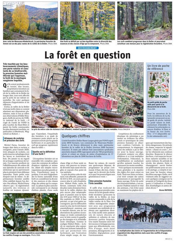 Article DNA du 14 février 2021 la forêt