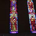 vitraux dans le monastère de Debre Libanos