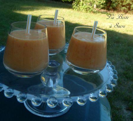 Smoothie coco abricot brugnon