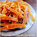 Ecorces d'orange confites