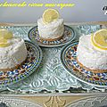 Mini cheesecake citron mascarpone