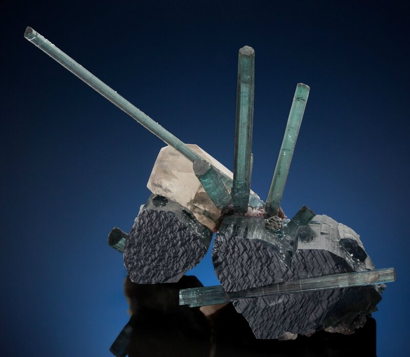Tourmaline on Tourmaline with Quartz