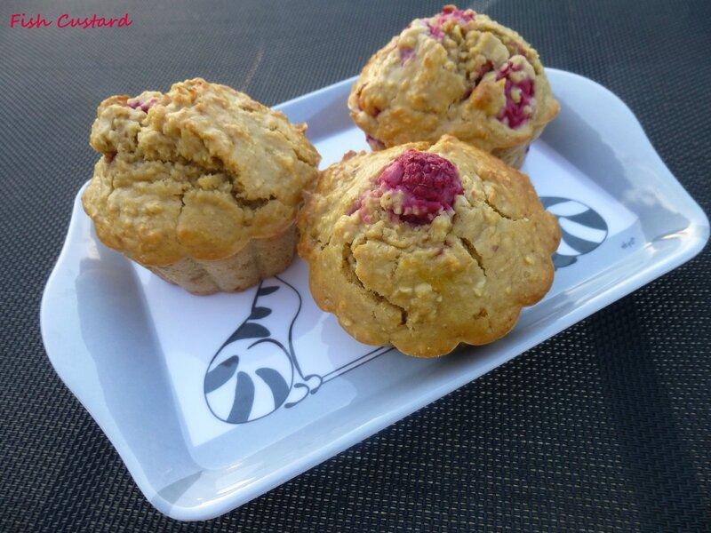 Muffins sains aux flocons d'avoine et framboise (1)