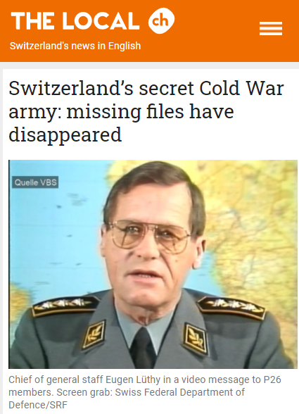 P26 Switzerland's secret Cold War army_ missing files have disappeared - The Local -
