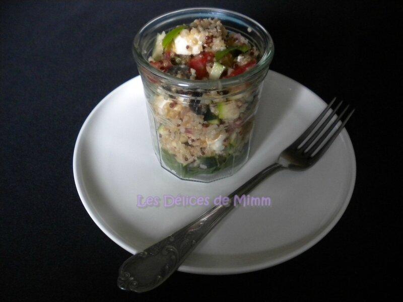 Salade méditerranéenne au quinoa-boulgour 3