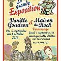 Expo vanille goudron et la maison du rock en septembre !