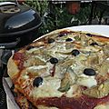 Pizza artichauts au barbecue