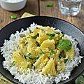 Curry d'ananas au lait de coco #vegan #sans gluten