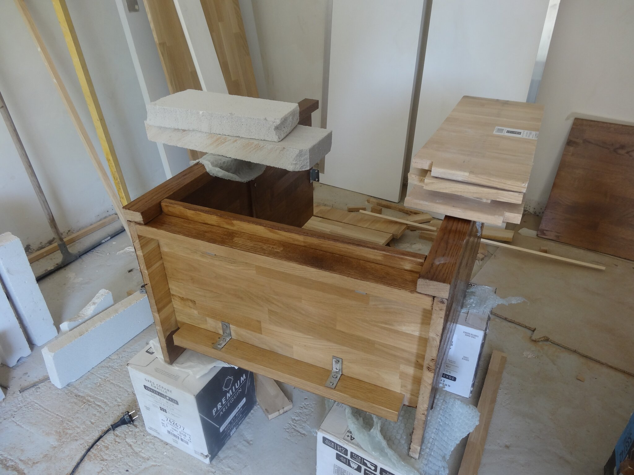 cration dun meuble sous vasque sur mesure faire soi mme