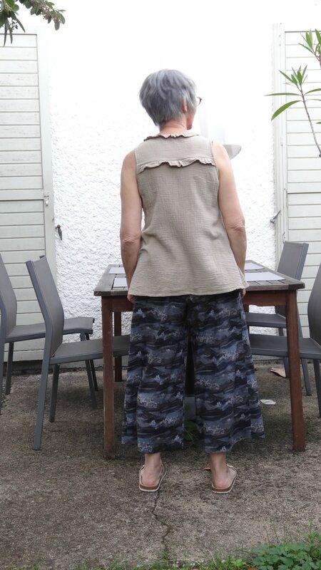 Zéphir et jupe culotte dos
