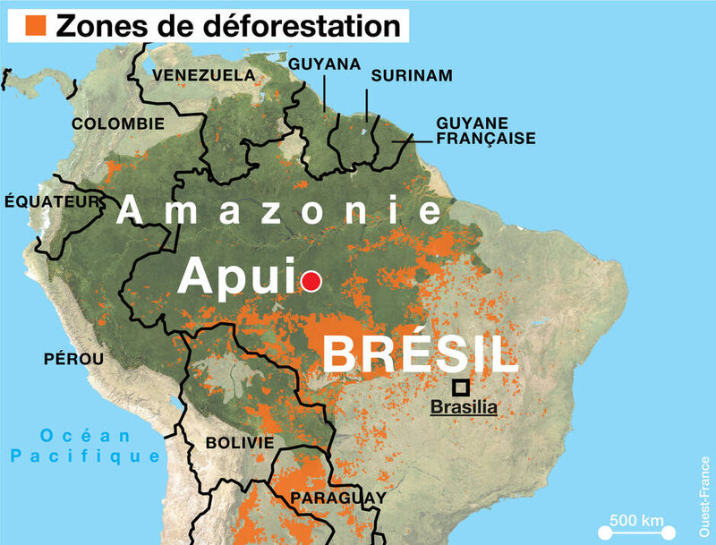 zones de déforestation