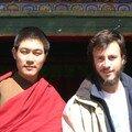 Renaud et un moine tibétain