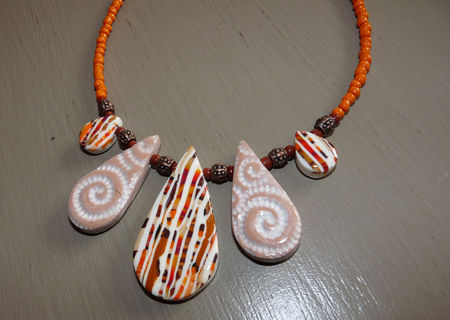 Collier_gouttes_Stroppel_ton_orange_beige_P