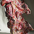Hervé THAREL SCHMIMBLOCK'S mouv' 2012 - acrylique sur argile 20,5cmx23cm (2)