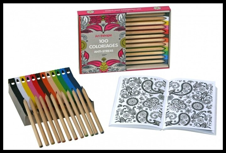 Coffret Art Thérapie 100 Coloriages Anti Stress Editions