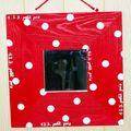 cadre mirroir petit pois rouge
