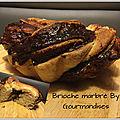 Brioche marbrée ( 215 cal/ la part)