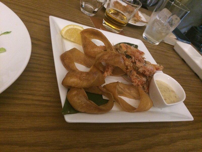 crevettes et calamars frits