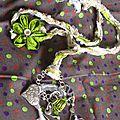 collier création textile