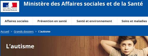 Site Ministère Aff soc et Santé