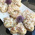 Canapés au crabe