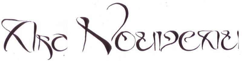 Art By Me art nouveau - calligraphies de cécile!