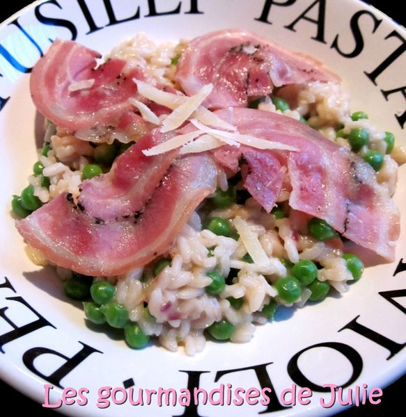 risotto petits pois pancetta