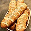 Que deviennent les baguettes de vienne ? (pain viennois au pavot)