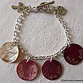 Bracelet de Première Communion sur chaîne métal