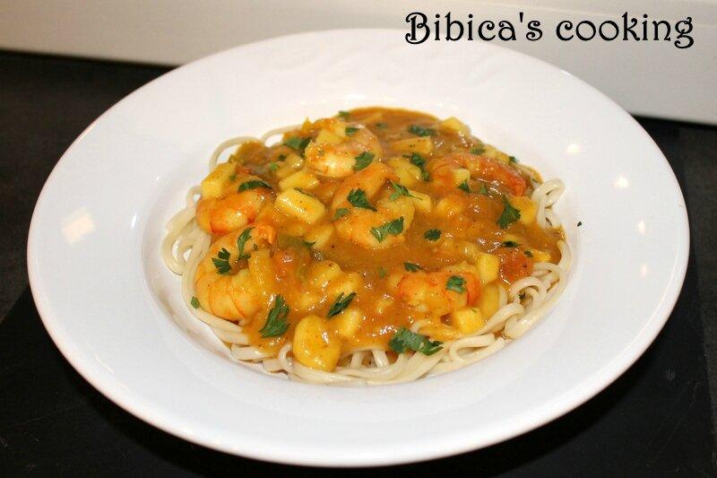 Curry de crevettes sucré-salé {au Cook'in} face