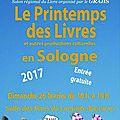 Salon du livre lamotte-beuvron (41) / dimanche 26 février 2017