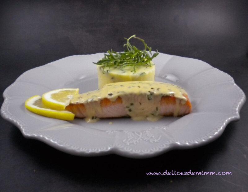 Pavés de saumon à la sauce moutarde 3