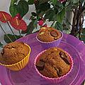 Muffins au son de blé, pomme, cannelle et pépites de chocolat ; cmum
