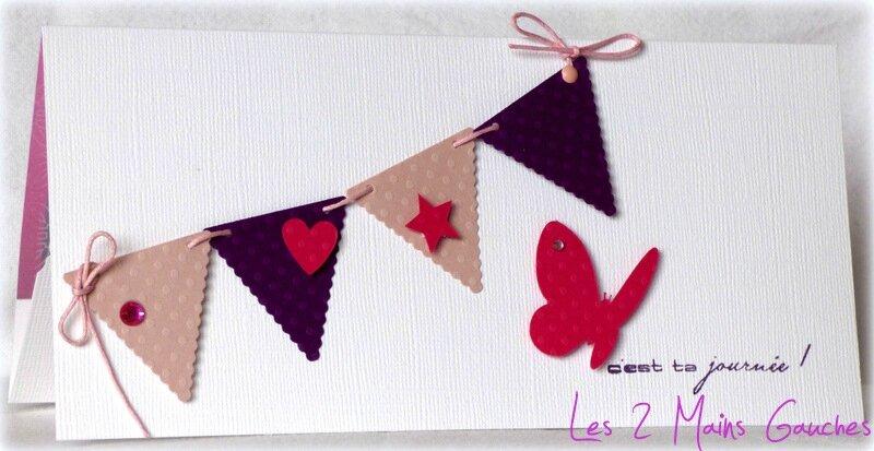 carte porte-billet féminine avec fanions