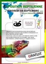 Affiche exposition reptilienne l'Absie 1 sur 3