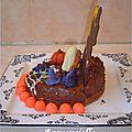 Gâteau halloween maison hantée